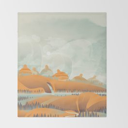 Mother Earth/Desert Patina Throw Blanket