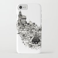 real madrid iPhone & iPod Cases featuring Madrid by Justine Lecouffe