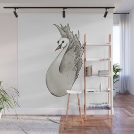 Almost Very Nearly Black Swan  Wall Mural