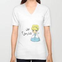 arabic V-neck T-shirts featuring Charming Arabic by Antaka Overdose