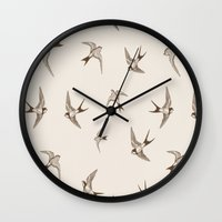 birdy Wall Clocks featuring birdy by LA creation