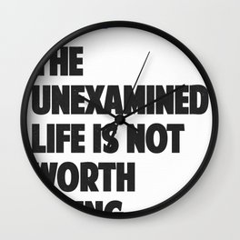 Socrates quote Wall Clock