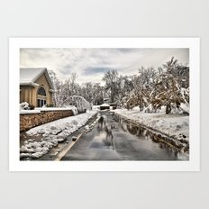 An Unexpected Snowfall Art Print