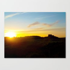 Winter sunset in Bamburgh Canvas Print