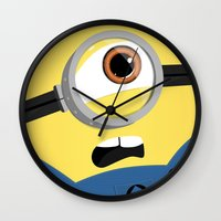 minion Wall Clocks featuring Minion by Janice Wong