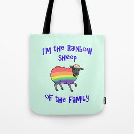 Rainbow Sheep of the Family Tote Bag