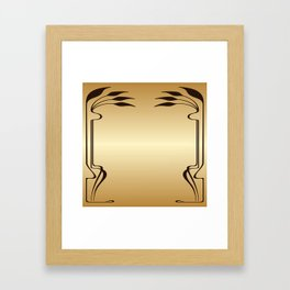 Golden Art nouveau Framed Art Print