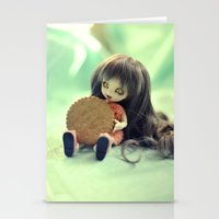 cookie monster Stationery Cards featuring Cookie Monster  by Aleksandra Piątkowska