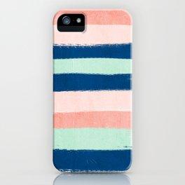Stripes painterly pastel trendy color way modern home decor dorm nursery style iPhone Case