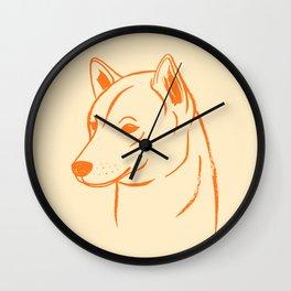 Shiba Inu (Beige and Orange) Wall Clock