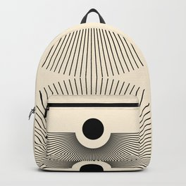 Abstraction_NEW_SUN_LINE_POP_ART_Minimalism_027AA Backpack