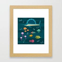 Sea animals 2 Framed Art Print