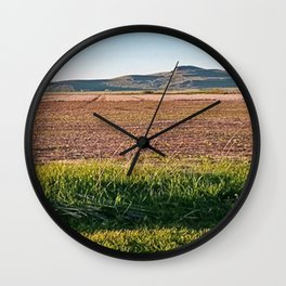 Grass Lands Wall Clock