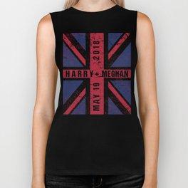 Harry Plus Meghan Royal Wedding Union Jack Biker Tank