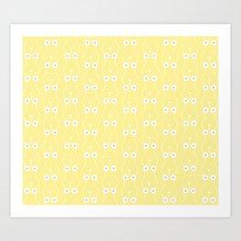 Boobs on Repeat   Lemon Yellow Art Print