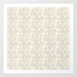 Paper Airplanes Faux Gold on Grey Art Print