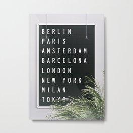 Dream Destinations after the Shutdown Metal Print