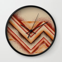 Earth - Panel 2 - Letterman Series - Triptych Wall Clock