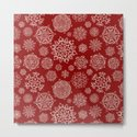 Merry Christmas- Abstract christmas snow star pattern on festive red I by simplicity_of_live