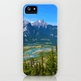 Overlooking the Athabasca River from the Morrow Peak Hike in Jasper National Park, Canada iPhone Case