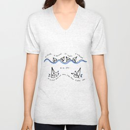 Cirrus/ Up and down Unisex V-Neck
