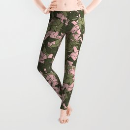 Origami Unicorn Camo PINK Leggings