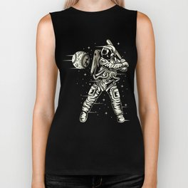 Space Baseball Astronaut Biker Tank
