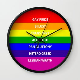 7 Deadly Queers Wall Clock