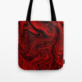 Red and black marble pattern Tote Bag