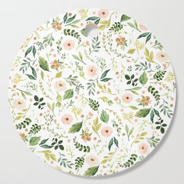 Botanical Spring Flowers Cutting Board