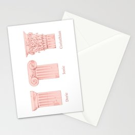 Columns - Rose Stationery Cards