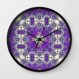Palm Leaves Abstract Art Pattern Wall Clock