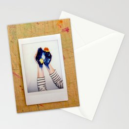 He's got the whole world in his hands Stationery Cards