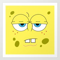 spongebob Art Prints featuring SpongeBob by Thorin