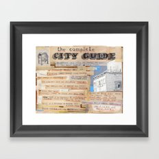 Locals Only. Framed Art Print