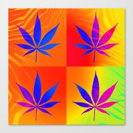 GreenRush - PopLeaf Orange Canvas Print