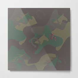 Camouflage Year of Horse Metal Print