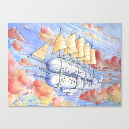 Il Veliero Volante (color version)  Canvas Print