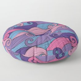 abstract waves Floor Pillow