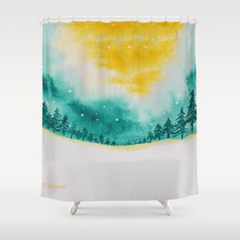 Magic of snow Shower Curtain