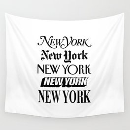 I Heart New York City Black and White New York Poster I Love NYC Design black-white home wall decor Wall Tapestry