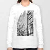dallas Long Sleeve T-shirts featuring Downtown Dallas by Sofleecori