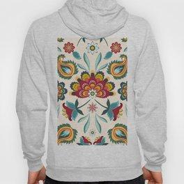 Floral Batik Hippie Boho Print Western Americana Hoody
