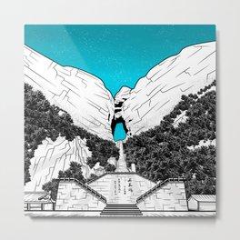 Heaven's Gate Tainmen Mountain Metal Print