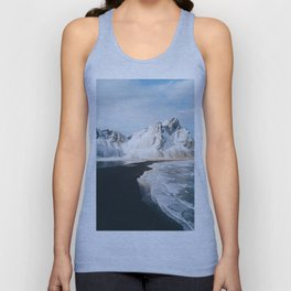 Iceland Mountain Beach - Landscape Photography Unisex Tank Top