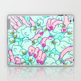 Rubber ducks pool Laptop & iPad Skin