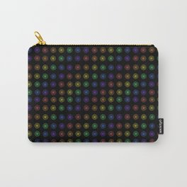 Inline Flower Rainbow Pattern Carry-All Pouch