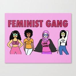 Feminist Gang Canvas Print