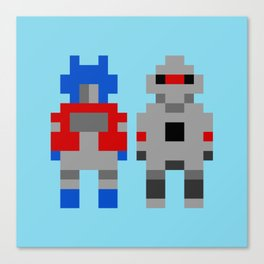 Optimus Prime and Megatron / Transformers Canvas Print