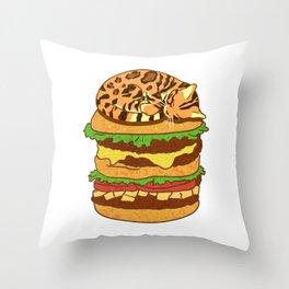 Bengal Burger Throw Pillow